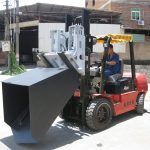 3 ton Hyundai Diesel Forklift Attachment Bucket Hinged Fork And Bucket